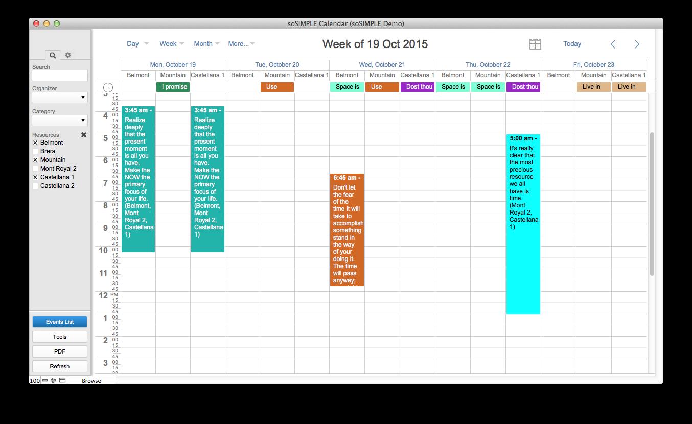 FileMaker Calendar and Resource Scheduler – by soSIMPLE